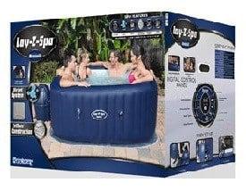 SaluSpa Hawaii 6-Person Inflatable Hot Tub review box