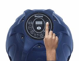 SaluSpa Hawaii 6-Person Inflatable Hot Tub review control unit