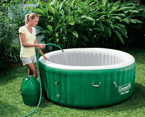 coleman portable hot tubs space needed